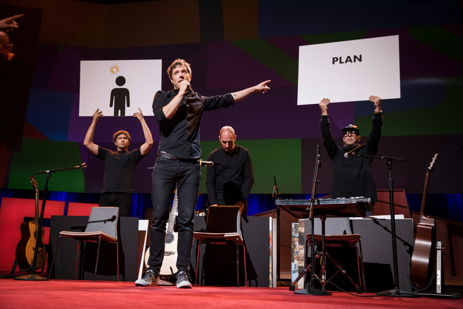 Damian Kulash of OK Go speaks at TED2017 - The Future You, April 24-28, 2017, Vancouver, BC, Canada. Photo: Bret Hartman / TED